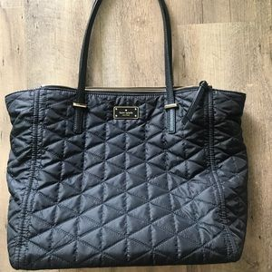 Kate spade quilted tote black